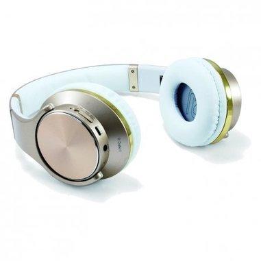 Conceptronic CHSPBTNFCSPKG Padiglione auricolare Stereofonico Con cavo e senza cavo Oro, Bianco auricolare per telefono cellulare