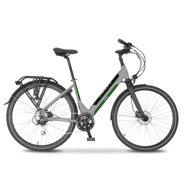 "Argento Bike Omega Nero, Verde, Argento Alluminio 71,1 cm (28"") 25 kg"