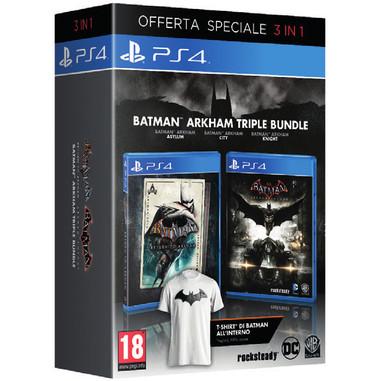 Batman trilogia Arkham + maglietta - PlayStation 4