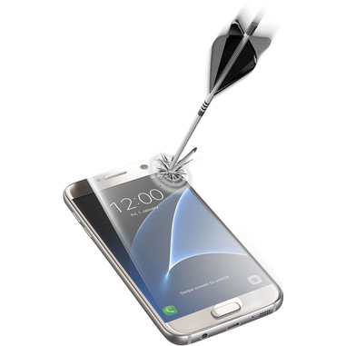 Cellularline Second Glass Ultra Shape - Galaxy S7 Vetro temperato resistente e trasparente Trasparente