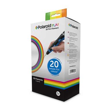 Polaroid 3D-FL-PL-2500-00 Acido polilattico (PLA) Nero, Blu, Marrone, Oro, Verde, Grigio, Verde militare, Arancione, Rosa, Porpora, Rosso, Argento, Trasparente, Bianco, Giallo 15g materiale di stampa 3D