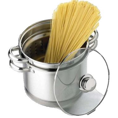 Bialetti Pastarella 220mm Acciaio inossidabile, Vetro temperato pentola