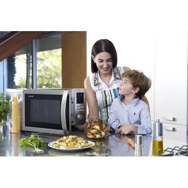 Sharp Home Appliances R-922STWE Piano di lavoro 32L 1000W Acciaio inossidabile