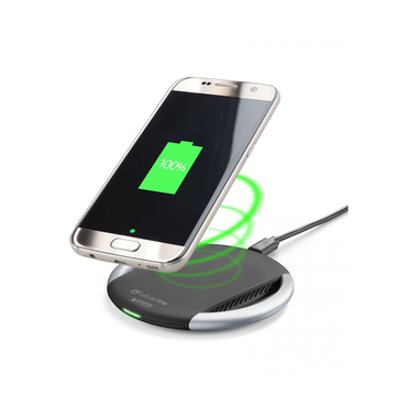 Cellularline WIRELESS FAST CHARGER - Wireless Smartphones with Adaptive Technology Caricabatterie senza fili per dispositivi a carica veloce adattiva Nero