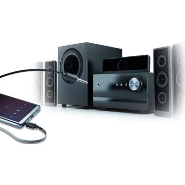 Cellularline Aux Music Home - Universale Cavo aux per collegare lo smartphone all'impianto stereo Nero