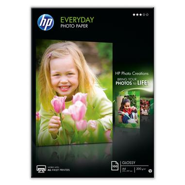 HP Confezione da 100 fogli carta fotografica lucida Everyday A4/210 x 297 mm