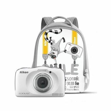 "Nikon COOLPIX W150 Kit Fotocamera subacquea 13,2 MP CMOS 4160 x 3120 Pixel 1/3.1"" Bianco + Zaino"