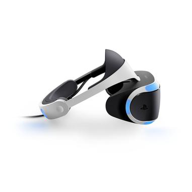 Sony PlayStation VR + PS Camera v2 + VR Worlds + GT Sport Occhiali immersivi FPV 610g Nero, Bianco