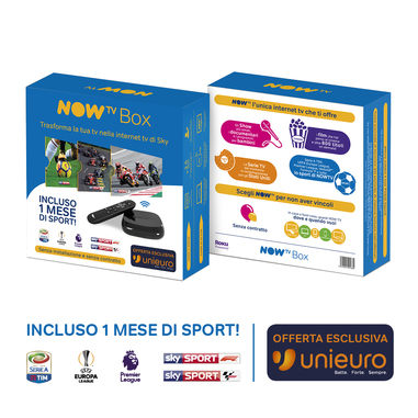 NOW TV Box Sport Edition – con 1 mese di Sport e Calcio