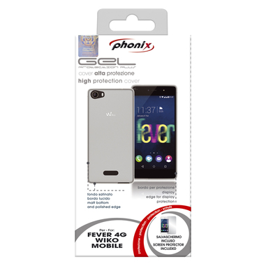 Phonix Custodia gel per Wiko Fever bianca