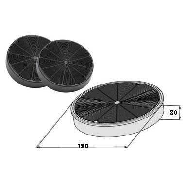 Faber Coppia filtri carbone attivo H37 cm per cappe | Cappe cucina ...