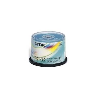 TDK CD-R 80MIN 700MB 52X CD-R 700MB 50pezzo(i)