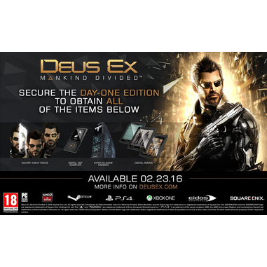 Square Enix Deus Ex: Mankind Divided, PS4