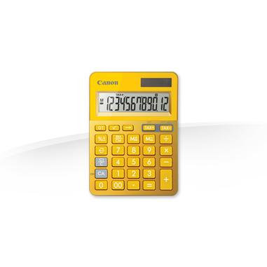 Canon LS-123K calcolatrice di base Metallico, Giallo