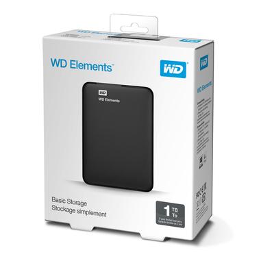 Western Digital WD Elements Portable 1000GB (WDBUZG0010BBK-WESN) Nero disco rigido esterno