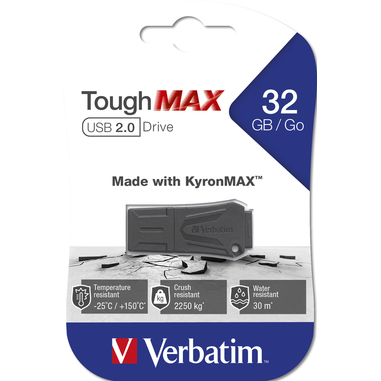 Verbatim ToughMAX unità flash USB 32 GB USB tipo A 2.0 Nero