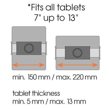 Vogel's TMS 1050 Nero supporto per tablet a ventosa