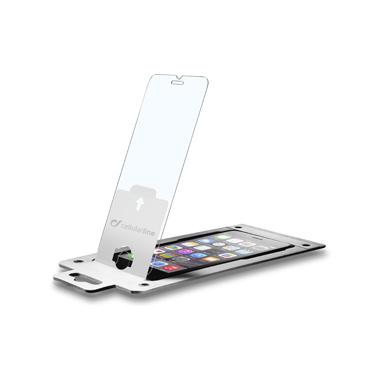 Cellularline Second Glass Easy Fix - iPhone 6S/6 Perfetta centratura, protezione invisibile Trasparente