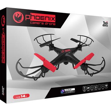 Twodots Phoenix 4rotori 2MP 1280 x 720Pixel 650mAh Nero, Rosso drone fotocamera