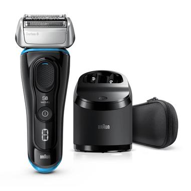 Braun Series 8 8365cc Rasoio Barba Elettrico, Stazione Di Pulizia Clean&Charge, Nero