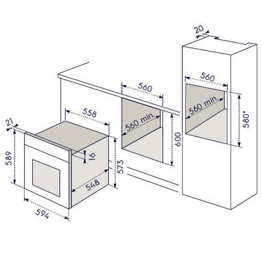Electrolux ROB 2200 AOX forno