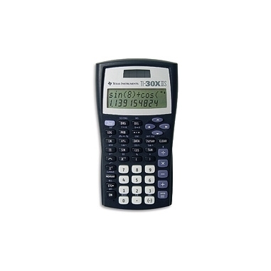 Texas Instruments TI-30X IIS calcolatrice Tasca Calcolatrice scientifica Nero