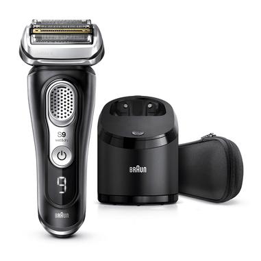 Braun Series 9 9360cc Rasoio Barba Elettrico, Stazione Di Pulizia Clean&Charge, Nero
