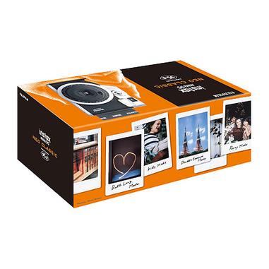 Fujifilm instax mini 90 NEO CLASSIC 62 x 46mm Nero, Acciaio inossidabile fotocamera a stampa istantanea