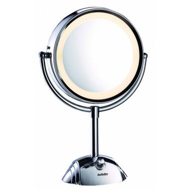 BaByliss 8438E specchietto per trucco Libera installazione Rotondo Acciaio inossidabile