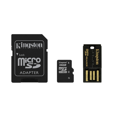 Kingston Technology 16GB Mobility Kit 16GB MicroSDHC Flash Classe 4 memoria flash