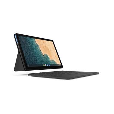 "Lenovo IdeaPad Duet Chromebook Ibrido (2 in 1) Blu, Grigio 25,6 cm (10.1"") 1920 x 1200 Pixel Touch screen MediaTek 4 GB LPDDR4x-SDRAM 64 GB Flash Wi-Fi 5 (802.11ac) Chrome OS"