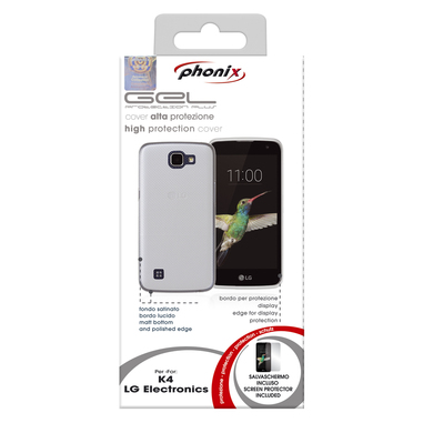 Phonix LGK4GPW Custodia Trasparente custodia per LG K4