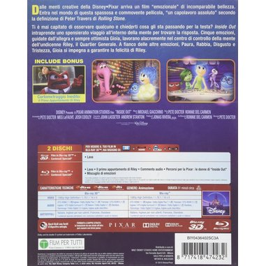 Inside Out (3D - Blu-ray)