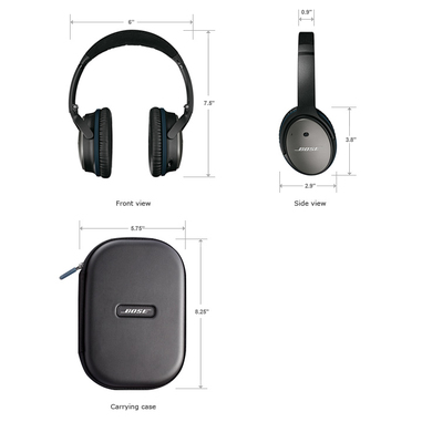 Bose® cuffie QuietComfort® 25 Acoustic Noise Cancelling® per dispositivi Apple® nero