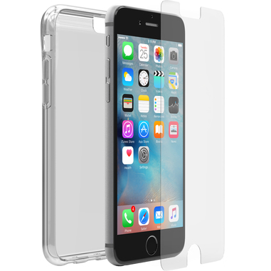 OtterBox Clearly Protected Skin + Alpha Glass per iPhone 6/6s