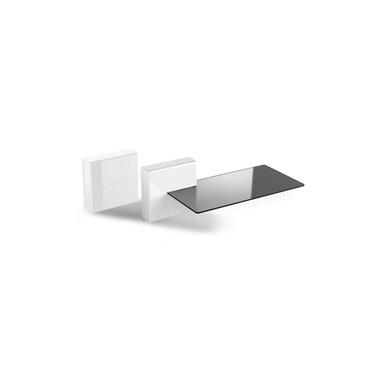 Meliconi 480522 BA scaffale Mensola modulare A muro ABS sintetico, Vetro temperato Bianco