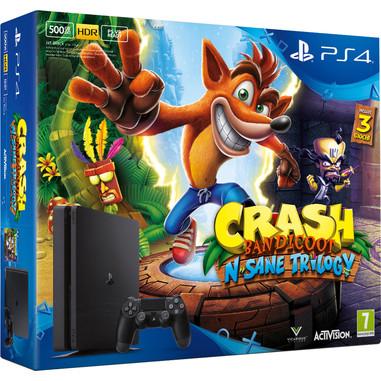 Sony PS4 500GB D Chassis Slim + Crash Bandicoot N. Sane Trilogy 500GB Wi-Fi Nero