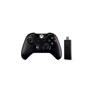 Microsoft NG6-00004 Gamepad Xbox One Nero + adattatore per PC