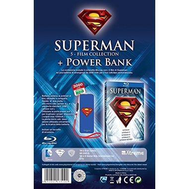 Superman 5 film collection 1978-2006 (Blu-ray + power bank)