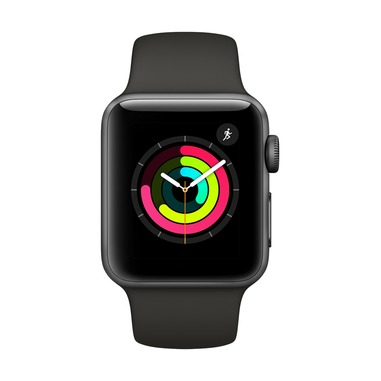 Apple Watch Series 3 Cassa in alluminio grigio siderale con cinturino Sport grigio (38mm)