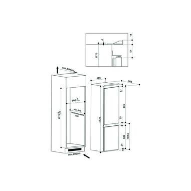 Hotpoint BCB 7030 E C AA S incasso A+ Bianco frigorifero con congelatore
