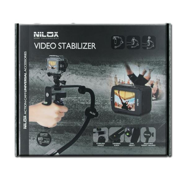 Nilox 13NXAKACEF006 Stabilizzatore d'immagine Nero, Cromo stabilizzatore per macchina fotografica