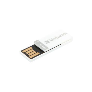 Verbatim Clip-it unità flash USB 16 GB USB tipo A 2.0 Bianco