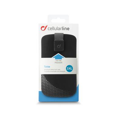 Cellularline TATTOSLXXXLBK Custodia a scorrimento Nero custodia per cellulare