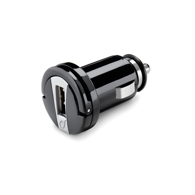 Cellularline USB Car Micro Charger - Fast Charge Universale Carica veloce a 10W, design a scomparsa Nero