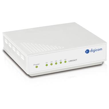 Digicom SWF05C-L01 Commutatore di rete non gestita Fast Ethernet (10/100) Bianco