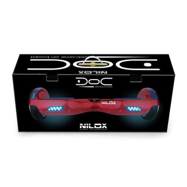 Nilox 30NXBK65D2N05 10km/h 4300mAh Nero, Blu, Rosso hoverboard