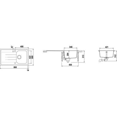 Schock Lithos D100 A 07 Lavello sottopiano Rettangolare