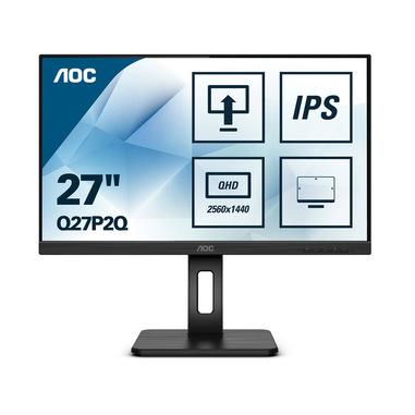 """AOC Q27P2Q LED display 68,6 cm (27"""") 2560 x 1440 Pixel Quad HD Nero"""