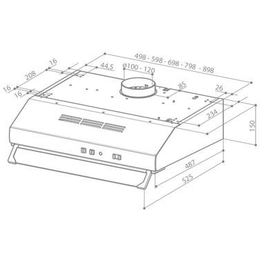FABER TCH04 SS16A 741 Semintegrato (semincassato) Nero, Acciaio inossidabile 160m³/h